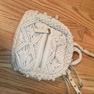 0b9853a9c5 Zara Macrame Crochet Mini Backpack